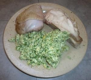 Dinde aux blancs d'œufs brouillés
