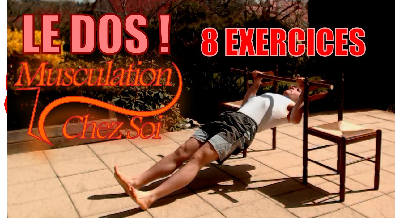 8 exercices pour se muscler le dos chez soi
