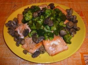 Saumon aux champignons