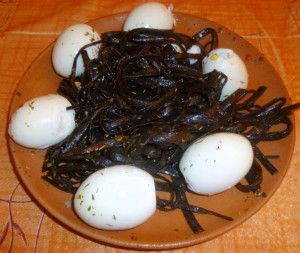 Recette - Algues aux œufs durs