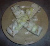 Filets de colin aux oignons
