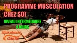 Programme de musculation maison sur 4 jours