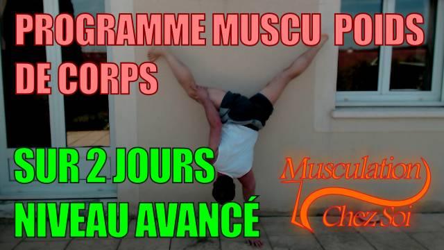 Programme musculation force chez soi sur 2 jours